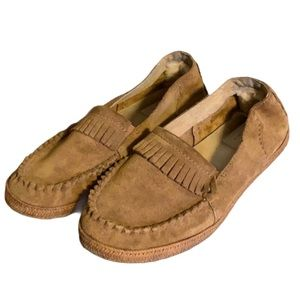 Ugg Tan Suede Espadrille Moccasins - Girl's Size 4